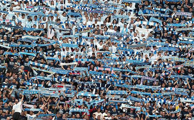 Gli ultras della Curva B assenti, martedì, contro il Barcellona