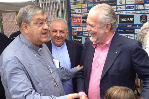 """Cardinale Sepe: """"De Laurentiis, se mi deludi ti scomunico"""""""
