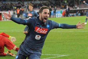 Coppa Italia- Napoli-Inter Higuain esulta