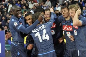 Coppa Italia- Napoli-Inter la squadra esulta