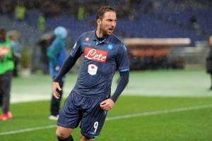Coppa Italia Lazio-Napoli Higuain esulta