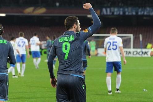 Napoli-Dinamo Mosca Higuain 3