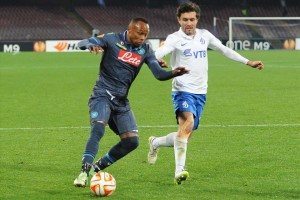 Napoli-Dinamo Mosca Zuniga