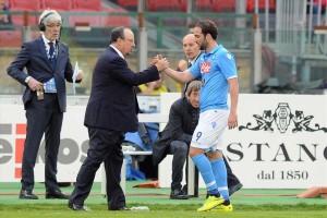 Cagliari-Napoli sostituzione Higuain-Benitez