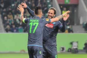 Wolfsburg-Napoli Hamsik-Higuain