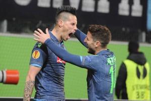 Wolfsburg-Napoli Hamsik-Mertens