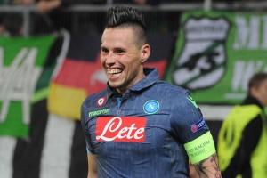Wolfsburg-Napoli secondo gol Hamsik