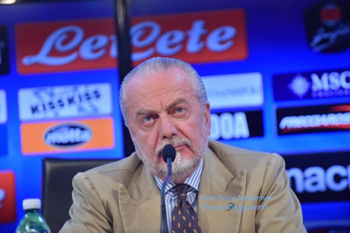 """De Laurentiis: """"E' mancata la cazzimma.  Bisognava trovare alternative tattiche prima della Champions""""."""