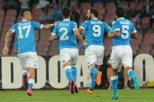 Napoli-Lazio 5-0 Hamsik Hysaj Higuain Allan