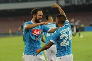 Napoli-Lazio 5-0 Insigne-Higuain