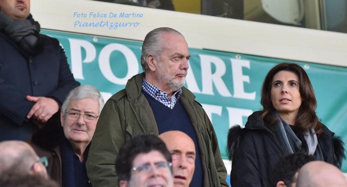 """De Laurentiis: """"Con Sarri abbiamo messo le basi per 4 anni straordinari, stiamo lavorando per voi"""""""