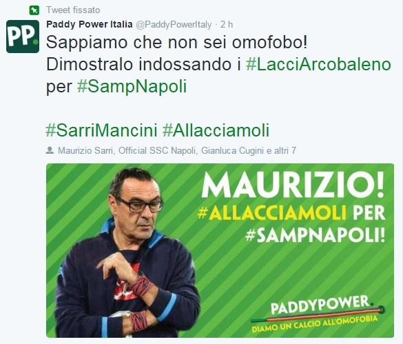 Tweet Paddy Power Sarri
