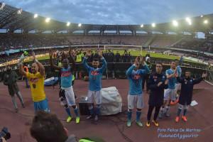 Saluto ai tifosi DMF_7351 Napoli Carpi 7/2/2016 foto De Martino