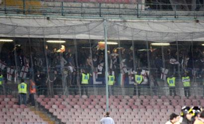 Ancora vergognosi cori anti napoletani, dal settore ospiti, da parte dei tifosi rossoneri