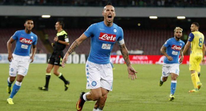 LA PARTITA – Napoli-Chievo 2-0, a segno Gabbiadini e Hamsik