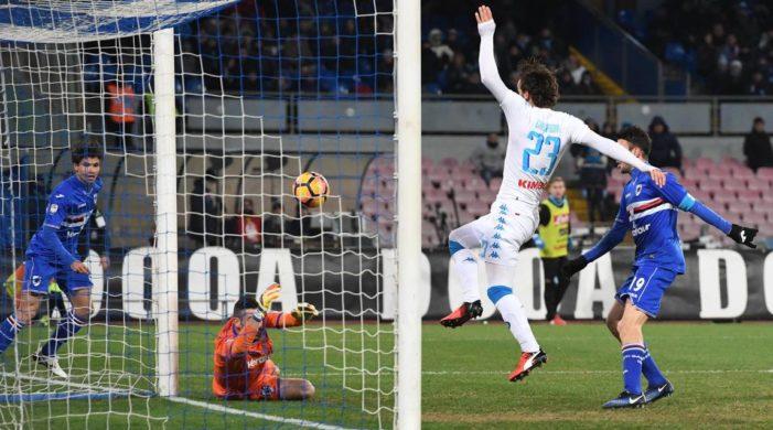 LA PARTITA – Napoli-Sampdoria 2-1, prima vittoria del 2017 con Gabbiadini e Tonelli