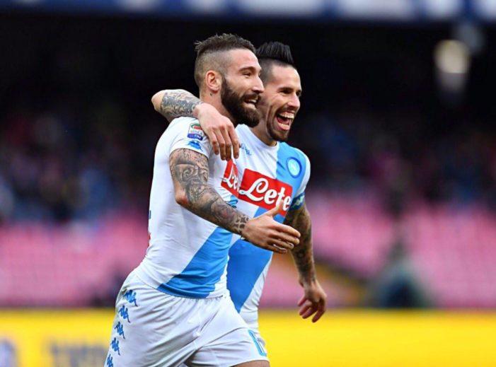 LA PARTITA – Napoli-Pescara 3-1, a segno Tonelli, Hamsik e Mertens