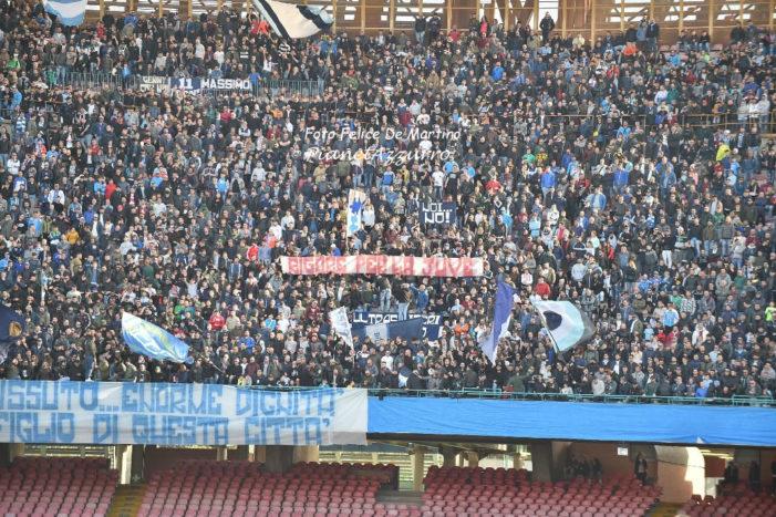 Tifoseria azzurra pronta a tributare il giusto applauso ai propri beniamini, domenica contro il Crotone