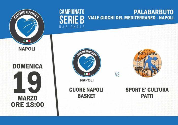 Pre-partita Cuore Napoli Basket – Sport è Cultura Patti