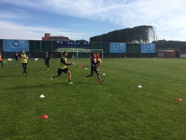 Napoli, doppia seduta di allenamento