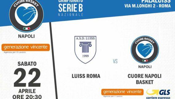 Pre-partita LUISS Roma – Generazione Vincente Cuore Napoli Basket