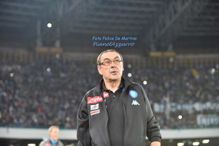 """Sarri: """"Abbiamo dimostrato che alla Champions ci teniamo, dispiace non essere padroni del nostro destino"""""""
