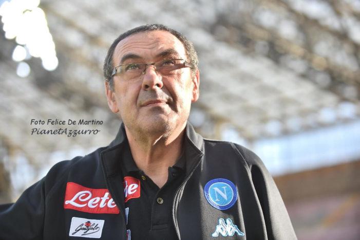 """Sarri: """"2 posto? Pensiamo a battere tutti i record. Fiorentina ci crea sempre difficoltà, Allan in dubbio. Sul fatturato…"""
