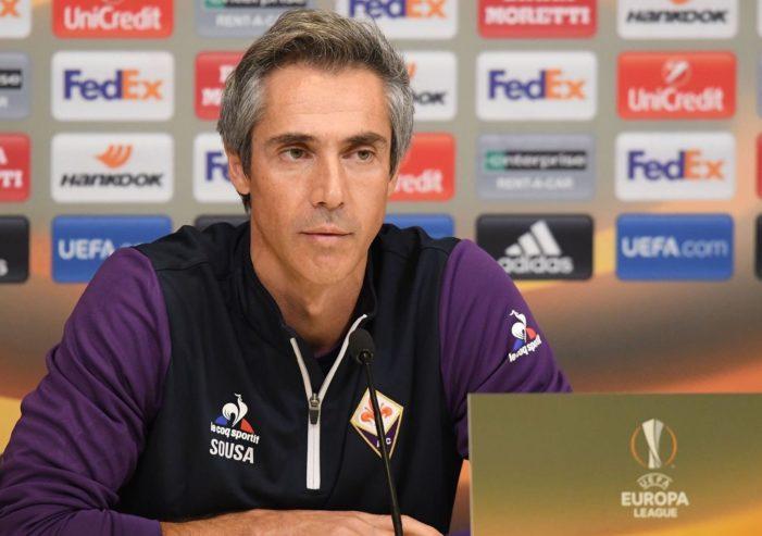"""Fiorentina, Sousa: """"Siamo la squadra che ha creato più difficoltà al Napoli"""""""