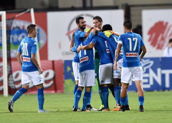 LA PARTITA – Napoli-Trento 7-0, show allo stadio Briamasco, in gol anche Ounas