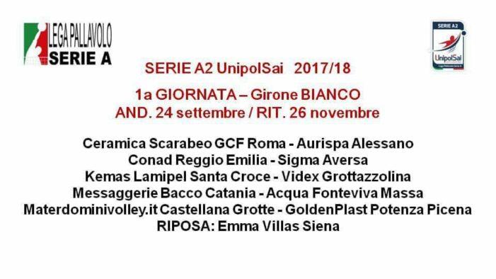 PALLAVOLO – Sigma Aversa, ecco il calendario della Serie A2 Unipol Sai: si parte in trasferta a Reggio Emilia