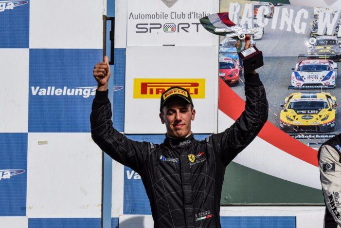 Campionato Italiano Gran Turismo, sesto podio stagionale per Niccolò Schirò a Vallelunga