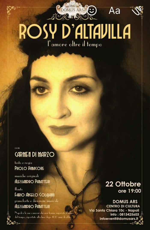 Carmen di Marzo in Rosy D'Altavilla: l'amore oltre il tempo
