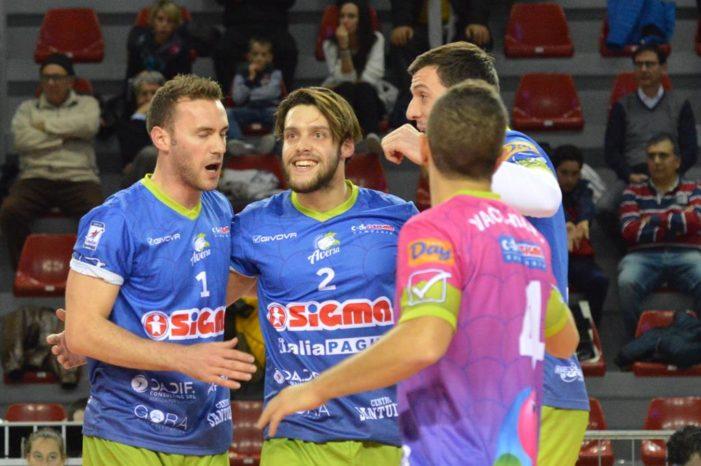 PALLAVOLO – Non conosce sosta la crisi della Sigma Aversa: i normanni ko 3-0 in trasferta con la GoldenPlast Potenza Picena