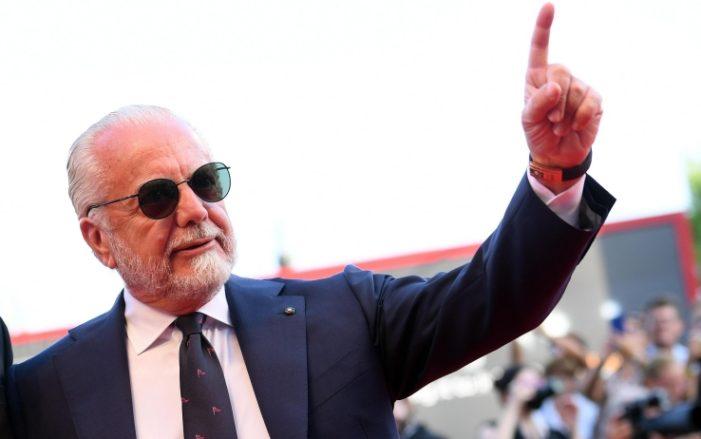 """De Laurentiis: """"Il Napoli è un miracolo in una città che non funziona""""."""