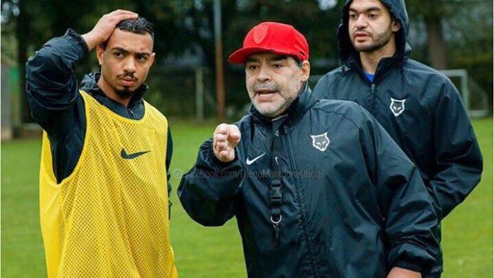 """Maradona: """"E' triste che l'Italia sia fuori dai Mondiali"""""""