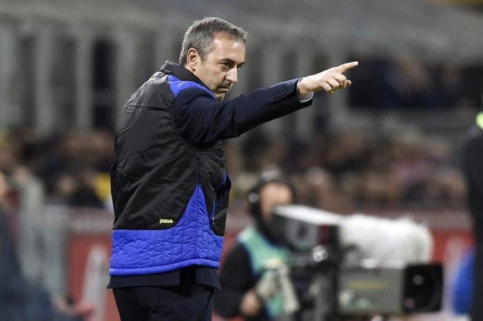 """Sampdoria, Giampaolo: """"Questa squadra finora è stata straordinaria. Abbiamo limitato di molto le qualità della Juventus"""""""