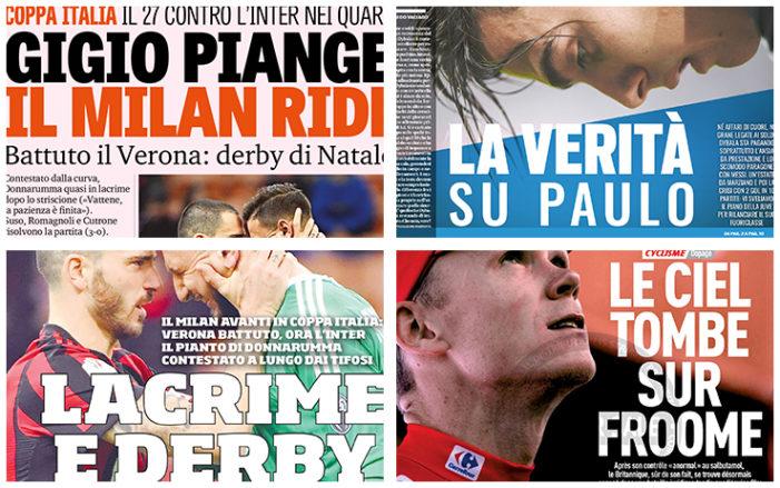 """""""Lacrime e derby"""": rassegna stampa"""