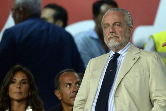 """Napoli De Laurentiis """"Non compro per far stare in panchina continueremo a spendere con intelligenza"""""""