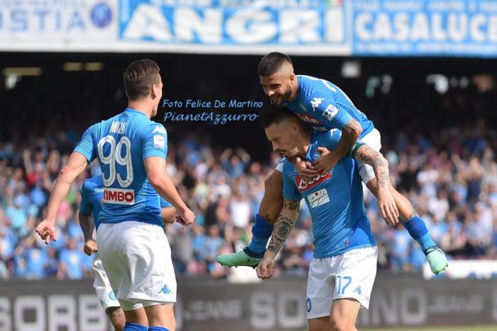 LA PARTITA – Napoli-Crotone 2-1, gli azzurri chiudono il campionato a 91 punti