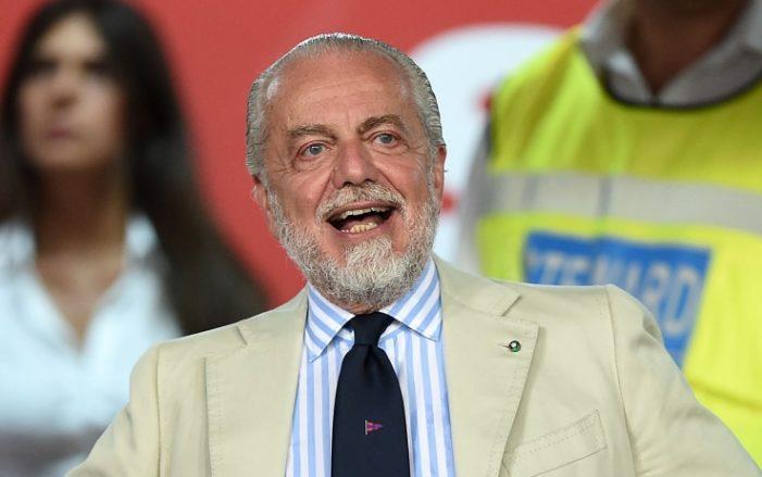 """De Laurentiis: """"Cavani, Di Maria e Benzema? Falsissimo, voglio i giovani"""""""