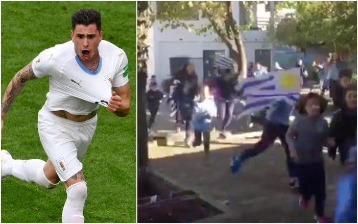 Giménez-gol: i bimbi in Uruguay impazziscono VIDEO