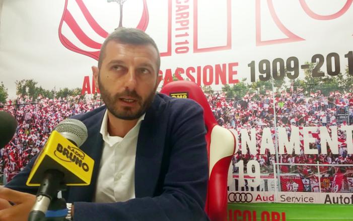 """Dg Stefanelli: """"Carpi deve essere il nostro Real"""""""
