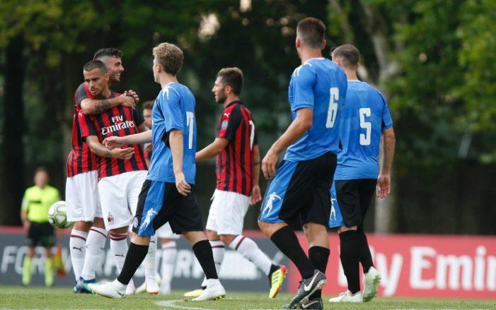Gol di Suso e Calabria, Milan-Novara 2-0