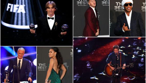 Baci, premi e abbracci: festa rock a Fifa The Best