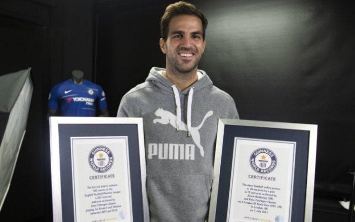 Fabregas, 100 assist da record: è nel Guinness