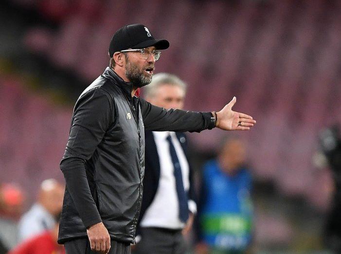 Liverpool, Klopp non accampa scuse: il Napoli ha meritato la vittoria