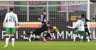 Inter-Sassuolo 0-0, i nerazzurri frenano e ringraziano Handanovic