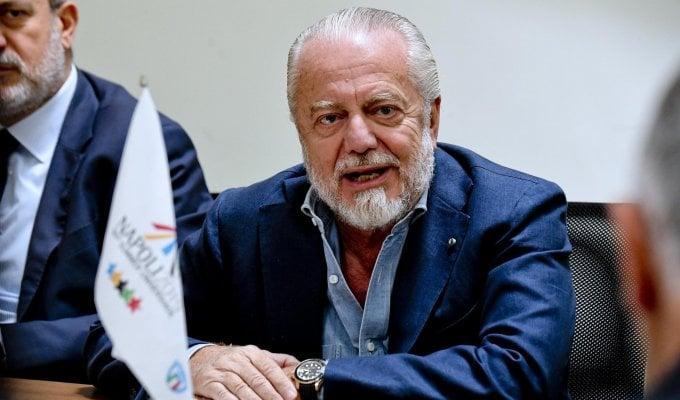 """De Laurentiis: """"Per il Napoli bilancio molto positivo, con Ancelotti abbiamo sperimentato tutte le potenzialità dei giocatori che avevamo"""""""